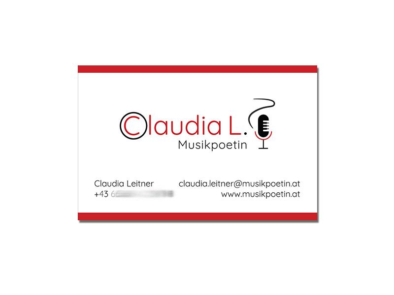 Claudia L. - Musikpoetin - Visitenkarte